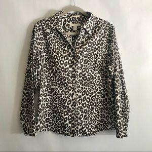 Chico's non-Iron Leopard print blouse